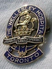 The Wellesley Hospital Toronto School of Nursing Graduation Pin. 1949.