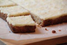 Lemon Weetbix Squares Lemon Slice cut into squares Sweet Recipes, Snack Recipes, Dessert Recipes, Cooking Recipes, Healthy Lemon Recipes, Snacks, Vegetarian Recipes, Savoury Slice, Lemon Desserts