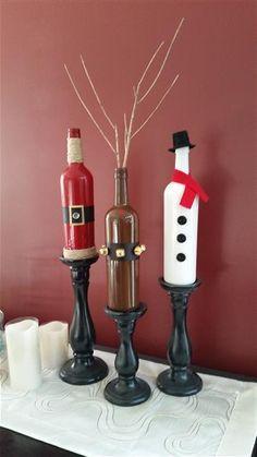 Wine bottle crafts …