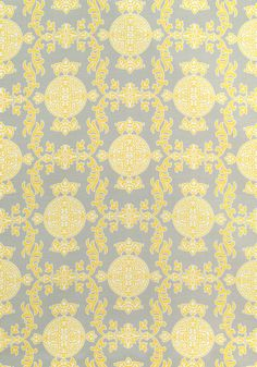 HALIE, Grey and Lemon, F936115, Collection Enchantment from Thibaut