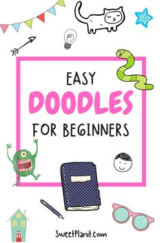 Cute and Easy Doodles Anyone Can Draw - Perfect for Beginners + Hundreds of Ideas! Bullet Journal Notebook, Bullet Journal Layout, Bullet Journal Ideas Pages, Bullet Journal Inspiration, Journal Prompts, Bullet Journals, Art Drawings For Kids, Doodle Drawings, Cute Easy Doodles