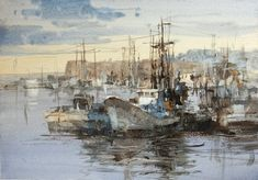 watercolor mixed with white , Chien Chung Wei Watercolor Pictures, Watercolor Artwork, Watercolor Artists, Watercolor Landscape, Artist Painting, Landscape Art, Painting & Drawing, Kitsch, Watercolor Mixing
