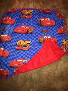 Lighting McQueen tie blanket I made for my nephew