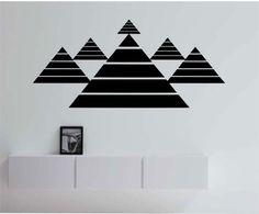 Geometric Pyramids Vinyl Wall Decal Sticker Art Decor Bedroom Design Mural geometric geometry