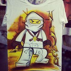 Airbrush ninjago shirt airbrushed ninja by Airbrushmonsters, $24.95