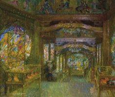 """Léon De Smet (Belgian, 1881 - 1966) """"Intérieur Du Pavillon Chinois À Laeken"""""""