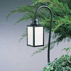 Arroyo Craftsman Pasadena 1 Light Pathway Light Finish: Satin Black, Shade Type: Off White, Overlay: Yes