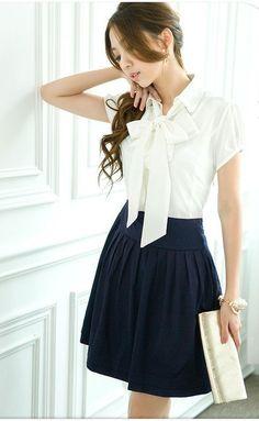 13.06  2012 New Hot Japan/Korean Ladies fashion OL/Career/Business Mini Dress/Skirt Women elegant casual bowknot charming dress X1814-in Apparel & Accessories on Aliexpress.com