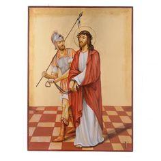 Vía Crucis 15 Estaciones iconos pintados a mano 44x32 cm Rumania | venta online en HOLYART
