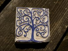 HandCarved Stamp Box Tree by belikethefox on Etsy, $25.00