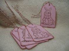 Items similar to Easter Bunny Piece Set of So Adorable Easter Bunny Vintage Inspired Scrapbooking Hang Tags Gift or Favor Tags on Etsy Handmade Tags, Easter Bunny, Paper Crafts, Unique Jewelry, Etsy, Beautiful, Vintage, Tissue Paper Crafts, Paper Craft Work