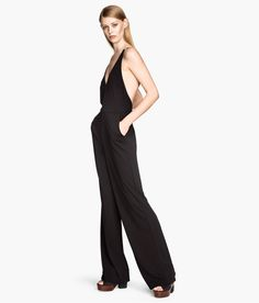 Jumpsuit with open back. #HMTrend
