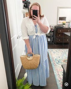 Striped Maxi, Jumpsuit Dress, Fashion Bloggers, Blue Stripes, Jumpsuits, Outfit Ideas, Rompers, Shopping, Dresses