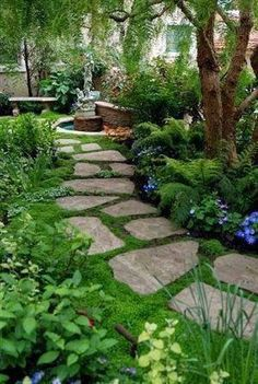 The Flexstone Landscape Stones are perfect for garden paths and courtyards. - Garden design 2019 - The Flexstone Landscape Stones are perfect for garden paths and courtyards. T … – Garden design - Back Gardens, Small Gardens, Small Backyard Gardens, Front Yard Landscaping, Backyard Landscaping, Landscaping Ideas, Walkway Ideas, Backyard Ideas, Patio Ideas