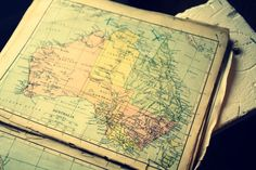old map of Australia Australia Map, Old Maps, Describe Yourself, Where The Heart Is, Road Trips, Travelling, Vintage World Maps, Wanderlust, Ocean