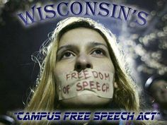 """The """"Campus Free Speech Act"""" has been introduced in Wisconsin.  To read the bill, press release or editorial on the topic from Representative Jesse Kremer, click here: http://legis.wisconsin.gov/assembly/59/kremer/legislative-proposals/2017-18-legislation/campus-free-speech-act/"""