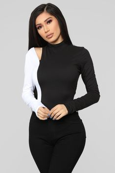 Living Mi Vida Bodysuit - Black White 391b707ac