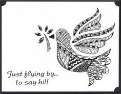 Zentangle Bird by scootsv - Cards and Paper Crafts at Splitcoaststampers
