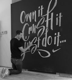 Nike Chalk Murals by Ben Johnston, via Behance