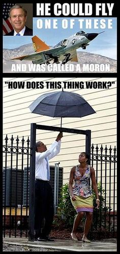 .......idiot in chief... I'm sure not talking about W, head and shoulders about the idiot.....