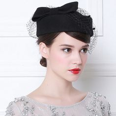 Online Shop 2018 New Luxury feather stewardess cap fedora hat female fashion solid wool vintage Hats for Women British style of Beret Sombreros Cloche, Beauty First, Stylish Hats, Hat Shop, Bow Flats, Felt Hat, Steampunk, Bride Hairstyles, British Style