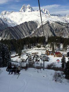 Greetings from Mestia! #svaneti #georgia #winter #ski #snow #mountains #travel