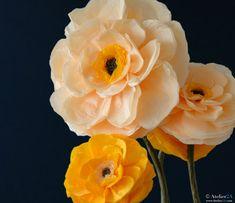 fleurs géantes en papier
