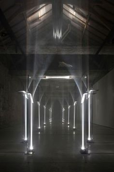 TROIKA - MAKING ARCHITECTURE OUT OF LIGHT. This site specific installation by the London based design studio,Troikawas on exhibit last month in Kortrijk, Belgium for the international biennial -Interieur 2012.