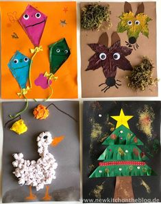 DIY-Kalender mit Kindern basteln: Meine Kinderbespaßung wenn´s draußen regnet und stürmt – New Kitch on the Blog Diy Kalender, Kids Corner, Paper Crafts, Christmas Ornaments, Holiday Decor, Painting, Home Decor, Anton, Scrapbooking