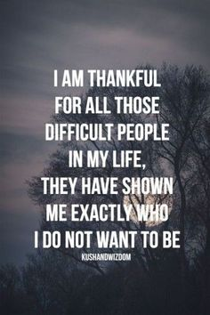 i am thankful for all those difficult people in my life. they have shown me exactly who i do not want to be.  ~ Great pin! For Oahu architectural design visit http://ownerbuiltdesign.com