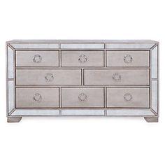 Ava 8 Drawer Mirrored Dresser by Z Gallerie 8 Drawer Dresser, Chest Dresser, Dresser With Mirror, Dressers, Mirrored Dresser, Silver Nightstand, Mirrored Bedroom, Glass Dresser, Mirrored Furniture