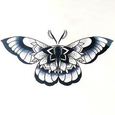 Beautiful Moth Tattoo Design