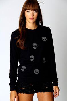Katie Embellished Skull Jumper