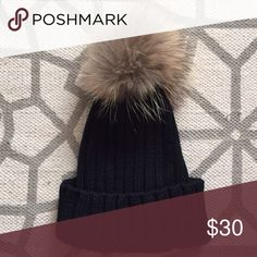 🍁‼️50% off Sale‼️Genuine Raccoon Knit Beanie Cute and soft this beanie will keep you warm this season! New without tags Accessories Hats