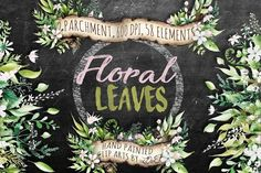 Illustrations and Illustration Products: DioFlow - Floral Leaves Watercolor Clip Art