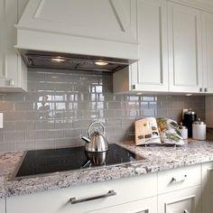 Backsplash ---White Ice Granite Design Ideas, Pictures, Remodel, and Decor
