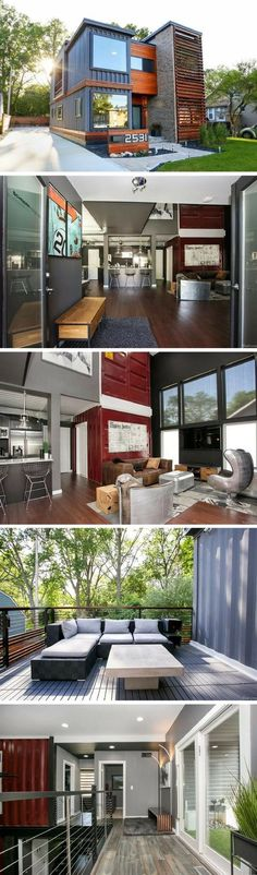 Container House Best shipping container house design ideas 61 Who Else Wants Simple Step-By-Step Plans To Design And Build A Container Home From Scratch? Building A Container Home, Container Buildings, Container Architecture, Container House Plans, Modular Homes, Prefab Homes, Architecture Design, Sustainable Architecture, Shipping Container Homes