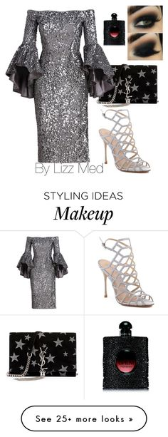 """Shine beauty"" by lizz-med on Polyvore featuring Schutz, Yves Saint Laurent and Milly"