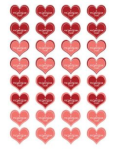Simply J Studio: valentine heart printable
