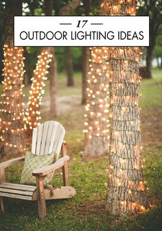 Use some of these 17 beautiful Outdoor Lighting Ideas to keep your party going into the night! Enjoy some cocktails and the warm summer evening in the ambient light with your friends and family.