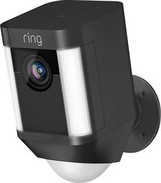 Buy Black Ring Spotlight Cam Smart Security Camera with Built-in Wi-Fi & Siren Alarm, Battery Powered from our Smart Home Monitoring range at John Lewis & Partners. Free Delivery on orders over Hd Security Camera, Wireless Security Cameras, Security Alarm, Ring Security, Video Security, Outdoor Camera, Audio, Wireless Home Security Systems, Thing 1
