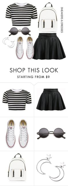 """""""Simple outfit"""" by darya-andreea ❤ liked on Polyvore featuring Topshop, Converse, New Look and Ana Accessories"""