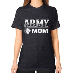 ARMY MOM Unisex T-Shirt (on woman)