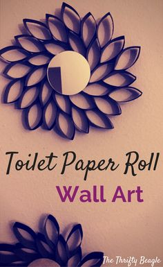 Toilet Paper Roll Wall Art ideas that will help transform your space on a budget. Recycle your rolls with these cheap and easy DIY decorating ideas.