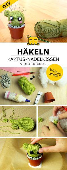 Kaktus-Nadelkissen häkeln - DIY by Pfirsichteufel | Amigurumi
