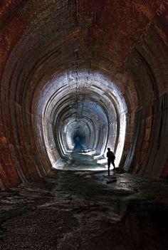 """abandonedandurbex: """" Abandoned Tunnel behind Niagara Falls, Canada [504x750]…"""