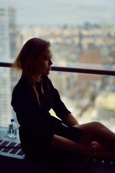 Kristina Bazan. Hugo boss outfit