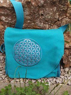 Inges Elfenwelt: Tasche mit der Blume des Lebens Messenger Bag, Bags, Flower Of Life, Great Love, Elves, Cordial, Dime Bags, Nice Asses, Handbags