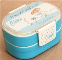 blue Cherie cat and girl Bento Box Lunch Box - Bentos - Bento Boxes