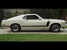 Nice 1970 Boss 302 Ford Mustang Sportsroof in Wimbledon White, non shaker with magnums, beautifully restored.  .